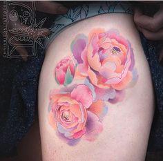 Chris Rigoni flower tattoo