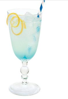 Vodka Lemonade with Blue Curaçao: INGREDIENTS 2oz. Vodka 1 Tablespoon Sugar Juice of 1 Lemon 1/2oz. Blue Curacao DIRECTIONS Shake with ice, and strain into ice-filled glass.
