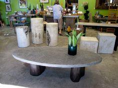 Concrete Furniture Ideas And Inspiration Concrete Pinterest - Oval concrete coffee table