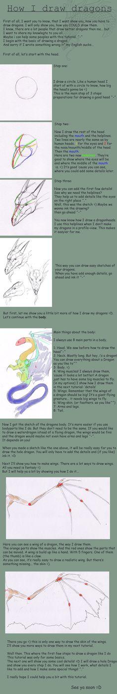 how i draw dragons basic