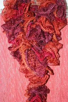 Handcrafted knitted Sashey Ruffly  Scarf by HCW2 on Etsy, $20.00