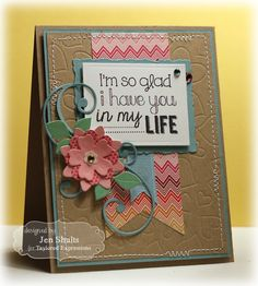 July Key Ingredients Kit  So Glad I have you in my Life Card by Jen Shults #Cardmaking, #Encouragement, #KIKit