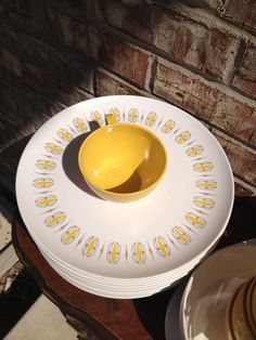 Incredible Vintage Plastic / Melmine Dinner set - 124 pieces - unmarked on Etsy, $36.95