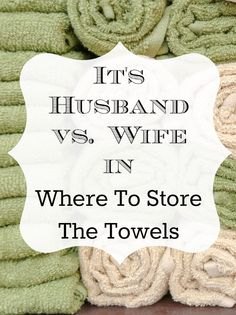 where to store bathroom towels