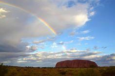 Rainbow over Uluru