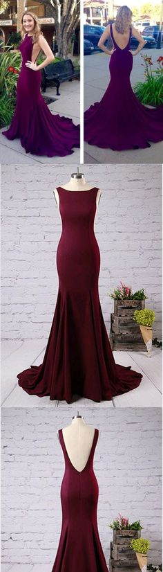 Elegant O-Neck Backless Prom Dresses,Long Prom Dresses,Cheap Prom Dresses, Evening Dress Prom Gowns, Formal Women Dress,Prom Dress #longpromdresses #Eleganteveningdress