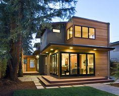 Modern Exterior Photos Cedar Siding Design, Pictures, Remodel, Decor and Ideas - page 17