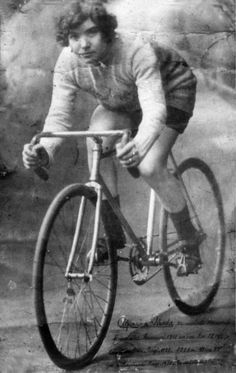 Alfonsina Strada (1891-1959) Italian cyclist and the only woman to have participated in Giro d'Italia, one of cycling's three major stage races.