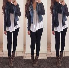Outfit Ideas With Leggings Pictures cute outfits ideas with leggings suitable for going out on Outfit Ideas With Leggings. Here is Outfit Ideas With Leggings Pictures for you. Outfit Ideas With Leggings loose shirt black leggings look so comfy a. Look Fashion, Teen Fashion, Fashion Outfits, Fashion Styles, Fashion Fashion, Latest Fashion, Fashion Ideas, Teenager Fashion, African Fashion