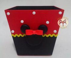10 Centro De Mesa Lembrancinha Cachepot Minnie Vermelha - R$ 155,00 em Mercado Livre