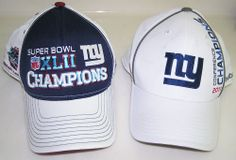 Reebok New York GIANTS 2011 CONF CHAMPS & SUPER BOWL XLII CHAMPS HATS
