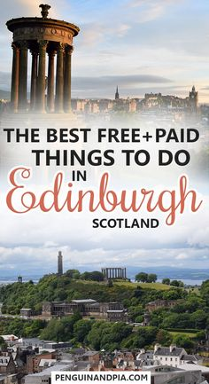 There are lots of things to do in Edinburgh, Scotland - from the Castle and the Royal Mile in the Old Town to Calton Hill, Dean Village and Arthurs Seat. We share lots of free, cheap and paid activities you shouldn't miss during your time in Edinburgh! #edinburgh #thingstodo #scotland #edinburghcastle #caltonhill #deanvillage #arturhsseat #oldtown #traveltips #sightseeing #freeactivities