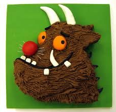 children Day Cake - Bake a Gruffalo cake for Red Nose Day 3rd Birthday Cakes, 3rd Birthday Parties, Boy Birthday, Birthday Ideas, Niall Birthday, Barney Birthday, Gruffalo Party, Gruffalo Costume, Cupcake Cakes