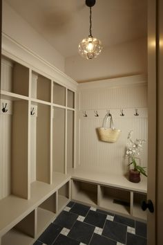 Laundry Rooms | built in storage- we will have to have a tall section for skis via ...