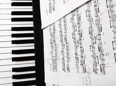 music comes from the he(art) #blackandwhite #photograph #reminiscent #yiruma #music #piano #sheetmusic #notes by art.unseen