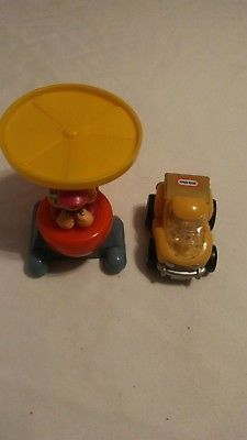little tikes toy lot of 2 helicopter truck