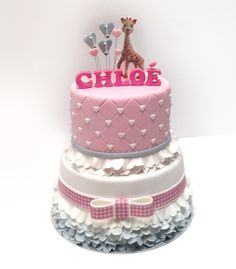 My Sweet Dear | sweet girls first birthday cake #sophie #giraffe