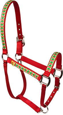 Christmas Cheer Equine Elite Halter - Made in the USA at RedHauteHorse.com