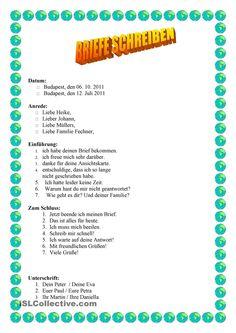 Briefe schreiben German Grammar, German Words, Teaching French, Teaching Spanish, Spanish Activities, Learn German, Learn French, Deutsch Language, Writing