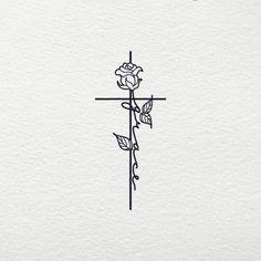Grace Cross svg - Grace Jesus Christian Religious Rose Flower Bud Cross SVG Clipart Files for Cricut Cut File Silhouette Vector Shirt Cute Tattoos For Women, Cross Tattoos For Women, Small Tattoos For Men, Small Cross Tattoos, Sword Tattoos For Women, Cute Tattoos With Meaning, Meaning Tattoos, Meaningful Tattoos For Women, Cross Hand Tattoos