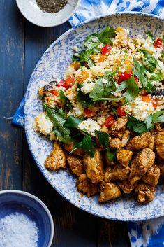 Moroccan chicken couscous salad #chicken #couscous