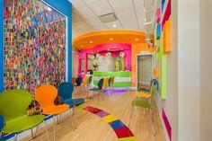Dental Land Pediatric | reception area interior design | Arminco Inc