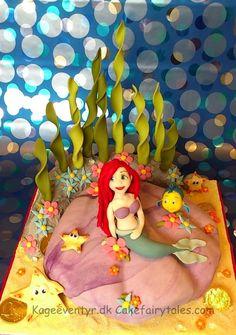 Ariel and Flounder Cake