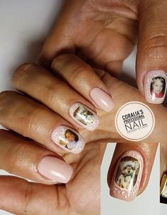 When you want to keep the ones you love always in your thoughts, you can wear their pictures on your nails :-)