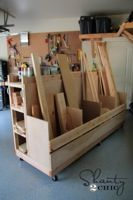 free plans woodworking resource from Shanty2Chic - lumber carts,lumber racks,diy,free woodworking plans,free projects,do it yourself,storage,garages,workshops,organizing