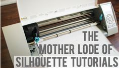 ** The Mother Load of Silhouette Tutorials for Beginners **   -- Re-routed to Blog, ThinkingCloset.com for a Printable & Found LOTS of Silhouette TUT's, Features, etc Articles Posted (She REALLY loves this Machine!)...   -- Is this What Bethany Uses??... Paper Only or Paper & Fabric?? = Would be Cool to Have a Solid Machine fof Cut-out Applique Designs!!...  (Beyond the Popular Fabric Cut-out Printer made Exclusively for Fabric w/ the Super-High $-Tag)   -- LOOK INTO THIS FOR FABRIC-USE…