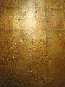 Bronze stucco - Antique pitted & honed design with patina finish in bronze on metal Leaf.