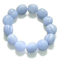Amulet Healing Blue Lace Agate Tumbled Crystals Natural Powers Gemstone Bracelet Best Amulets. $24.99. Genuine Semi Precious Blue Lace Agate Tumbled Crystals Gemstone Bracelet.. Bracelet Size: Self Adjustable and would fit most size wrists.. Comes with Gift kind Pouch. Each Gemstones Bead Size: Approximately 1/2 inch.. Each Bracelet is Naturally Unique and may have rough specks being made from semi precious gemstones.