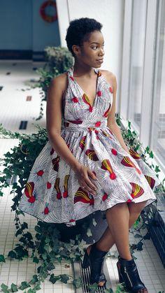 Vestido de pano africano