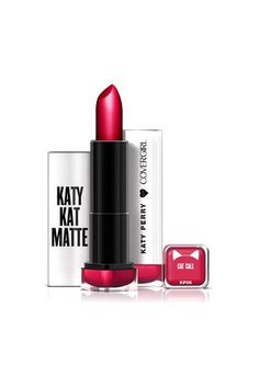 CoverGirl Katy Kat Matte Lipstick in Cat Call, $6.94, available for pre-order at Walmart.  #refinery29 http://www.refinery29.com/2016/04/108507/katy-perry-covergirl-makeup-collection#slide-1
