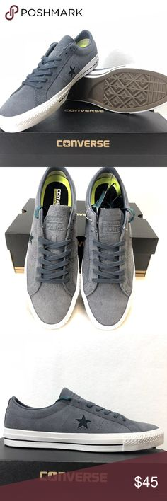 Converse One Star Pro Ox Low Top Shark Skin Gray NEW Converse One Star Pro  Ox. Vintage Converse Jack Purcell Platform Sneakers Size ... 4866ddb35