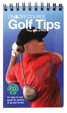 On & Off Course Golf Tips Book by On & Off Course Golf Tips. $5.99. Simply formatted and pocket-perfect, this 5-by-3-inch laminated guide is worth its weight in thrown clubs. Don't think twice about how to align yourself on a side-hill shot, just flip the guide open and find out. From drops to etiquette, On & Off Course Golf Tips contains all the problem-solving stuff you wish you could ask a teaching pro in your group. Easy to use illustrated guide is well laid out...