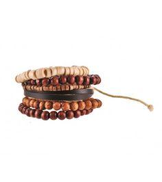 Brown beaded bracelet - £5.99