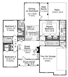 home plans square feet 3 bedroom 2 bathroom french country home with 2 garage bays