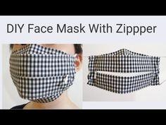 Sewing Aprons, Sewing Clothes, Diy Clothes, Easy Face Masks, Diy Face Mask, Zipper Face, Diy Fashion Hacks, Diy Mask, Fashion Face Mask
