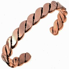 "This Navajo Copper Cuff Bracelet is solid ""Big Boy"" jewelry from the Tahe family of silversmiths. A heavy gauge of metal has been twisted & flattened by hand. Black Gold Jewelry, Emerald Jewelry, Copper Jewelry, Wire Jewelry, Missoma Jewellery, Copper Cuff, Copper Bracelet, Metal Jewelry Making, Wire Wrapped Jewelry"