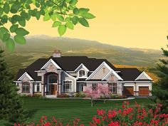 Traditional Home Plan with 5050 Square Feet and 4 Bedrooms from Dream Home Source | House Plan Code DHSW077413