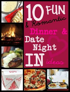 10 Fun and Romantic Dinner & Date Night In Ideas - try this next time you and your husband need a night off!