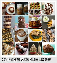 Holiday Recipes from Finding Vegan Bloggers .  So many fabulous options!