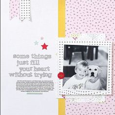 Who's crafting this weekend?We are loving @kellynoel's sweet layout using our Written in the Stars kits based on this week's scrapbook sketch. Hop on over to the blog for inspiration for your next project with three brand new sketches! #studiocalico #scrapbooking#memorykeeping