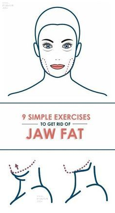 9 Best & Effective Exercises to Get Rid of Jaw Fat. Face Exercises For Jawline, Double Chin Exercises, Face Yoga Exercises, Stretches, Loose Face Fat, Cheek Fat, Muscles Of The Neck, Face Fat Loss, Facial Muscles