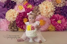Floral Backdrop: 47 Tissue Paper Flowers by JuliesElegantCrafts on Etsy