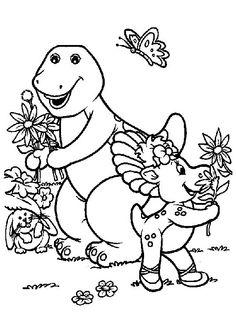 Barney och vänner Målarbilder för barn. Teckningar online till ...