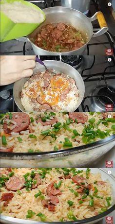 Arroz com Linguiça #arroz #arrozcomlinguiça #almoço #receitadearroz #comida #jantar #receitasfácil