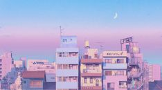 Morning Moon Art Print by Elora Pautrat - X-Small Macbook Wallpaper, Wallpaper Pc, Pastel Wallpaper, Computer Wallpaper, Wallpaper Backgrounds, Cool Pc Backgrounds, Wallpaper Dekstop, Glitter Wallpaper, Iphone Backgrounds