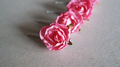 Wedding hair accessory, Hair pins, bridal hair accessories, hair accessories, wedding accessory, pink rose by WeddingDesignForYou on Etsy